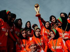 Afghanistan women's national team players have been evacuated to Australia, escaping the Taliban. (Image: Twitter/Copa90)