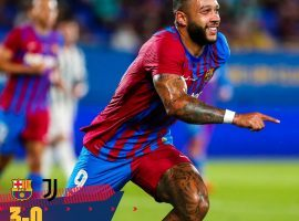 Memphis Depay already scored three goals in FC Barcelona's pre-season since joining as a free agent from Lyon. (Image: Twitter/FCBarcelona)