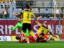 Haaland scored two goals and assisted another three as Dortmund beat Frankfurt 5-2 on the opening day of the Bundesliga season. (Image: Twitter/Bundesliga)