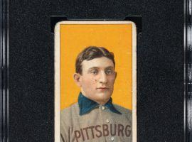 This T206 Honus Wagner baseball card demolished the previous record sale for a sports card. (Image: Robert Edwards Auctions)