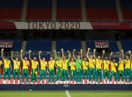 Brazil won the gold medals in the Men's Football Tournament at the Olympics after beating Spain 2-1 in the final. (Image: Twitter/FIFA)
