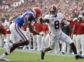 Alabama survived a challenge from Florida on Saturday, but the Crimson Tide's national championship odds still slipped slightly. (Image: Kim Klement/USA Today Sports)