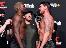 Derek Brunson (left) will take on Darren Till (right) in a critical middleweight matchup on UFC Fight Night 191 this Saturday. (Image: Jeff Bottari/Zuffa)