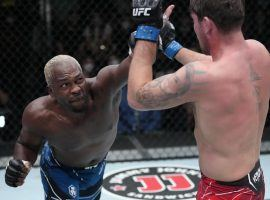 Derek Brunson submitted Darren Till to pick up a big win in the main event of UFC Fight Night on Saturday. (Image: Jeff Bottari/Getty)