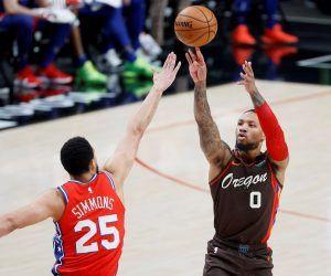 Ben Simmons trade Damian Lillard Philadelphis 76ers Portland Trail Blazers Minnesota Timberwolves odds