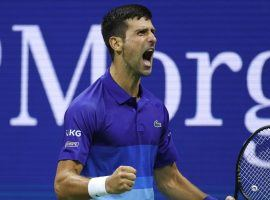 Novak Djokovic stands one win away from a calendar-year Grand Slam. He'll face Daniil Medvedev in the final of the US Open on Sunday. (Image: Getty)