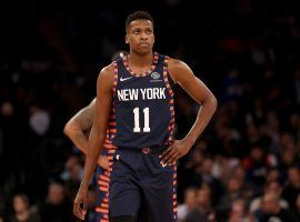 Point Guard Frank Ntilikina barely saw any playing time with the New York Knicks last season. (Image: Porter Lambert/Getty)