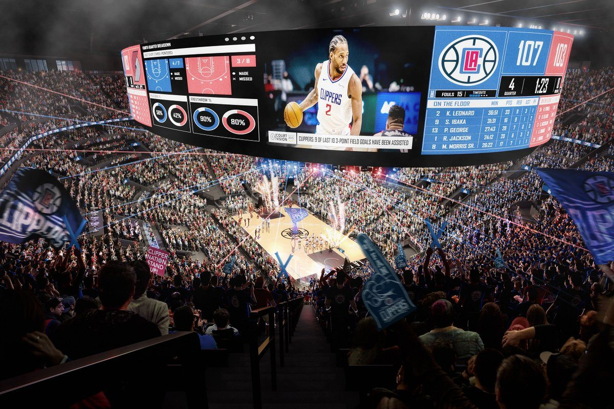 The Intuit Dome will feature a state-of-the-art scoreboard