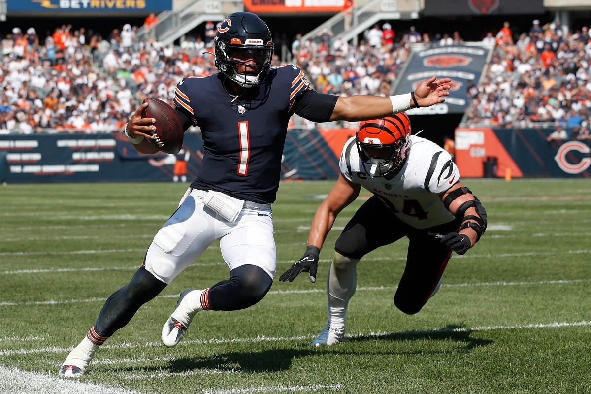 NFL Minggu 3 daftar mulai quarterback pemula QB QB quarterback Justin Fields Chicago Bears