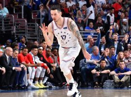JJ Redick knocks down a 3-pointer as a member of the Philadelphia 76ers in 2019. (Image: Getty)