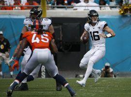 Jacksonville Jaguars QB Trevor Lawrence surveys the field against the Denver Broncos in Week 2. (Image: Stephen B. Morton/AP)