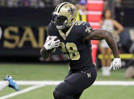 Running back Latavius Murray playing for the New Orleans Saints last season before signing with the Baltimore Ravens. (Image: Derick E. Hingle)