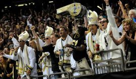 Fans of the New Orleans Saints were in a festive mood at the Superdome during the 2019 season. (Image: Cheryl Gerber/AP)