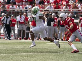 Oregon moved up to No. 4 in the Week 3 AP poll after upsetting Ohio State on Saturday. (Image: Icon Sportswire/Getty)