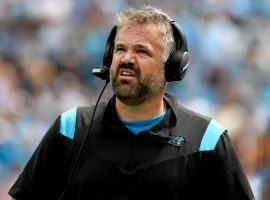 Matt Rhule head coach of the Carolina Panthers led his team to first place in the NFC South after a 3-0 record. (Image: Getty)