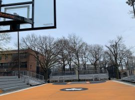 NYC's iconic Rucker Park in Harlem is the home of the annual Rucker Tournament and where street ball legends cut their teeth. (Image: Getty)