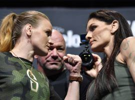 Valentina Shevchenko (left) comes in as a heavy favorite for her flyweight title defense against Lauren Murphy (right) as UFC 266. (Image: MMA Fighting)
