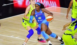 The Chicago Sky will host the Dallas Wings in the first game of the 2021 WNBA Playoffs on Thursday. (Image: Julio Aguilar/Getty)