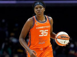 WNBA MVP Jonquel Jones will lead the Connecticut Sun in its semifinals series against the Chicago Sky. (Image: Ashley Landis/AP)