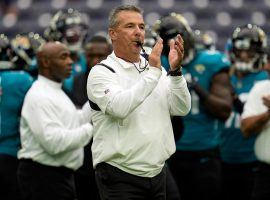 Jacksonville Jaguars head coach Urban Meyer toots his whistle prior to the Jags game against the Houston Texans. (Image: Sam Craft/AP)