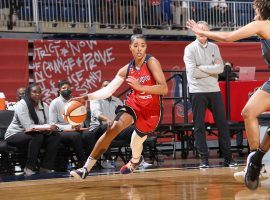 The Washington Mystics hold the eighth and final WNBA playoff spot, but they haven't clinched a postseason berth just yet. (Image: Ned Dishman/NBAE/Getty)