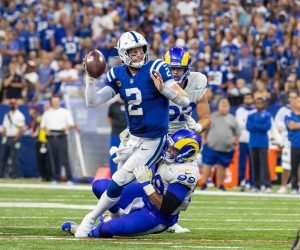 Carson Wentz sprained ankles ankle injury Colts QB