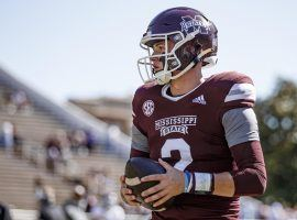 Mississippi State quarterback Will Rogers looks to continue his strong start to the 2021 season against LSU this week. (Image: HailState)
