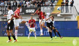 Daniel Maldini scored his first goal in the AC Milan shirt in his club's 2-1 away win over Spezia. (Image: Twitter/ACMilan)