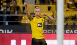 Erling Haaland continued his amazing run of form, scoring twice as Dortmund beat Union Berlin 4-2 at the weekend. (Image: Twitter/erlinghaaland)