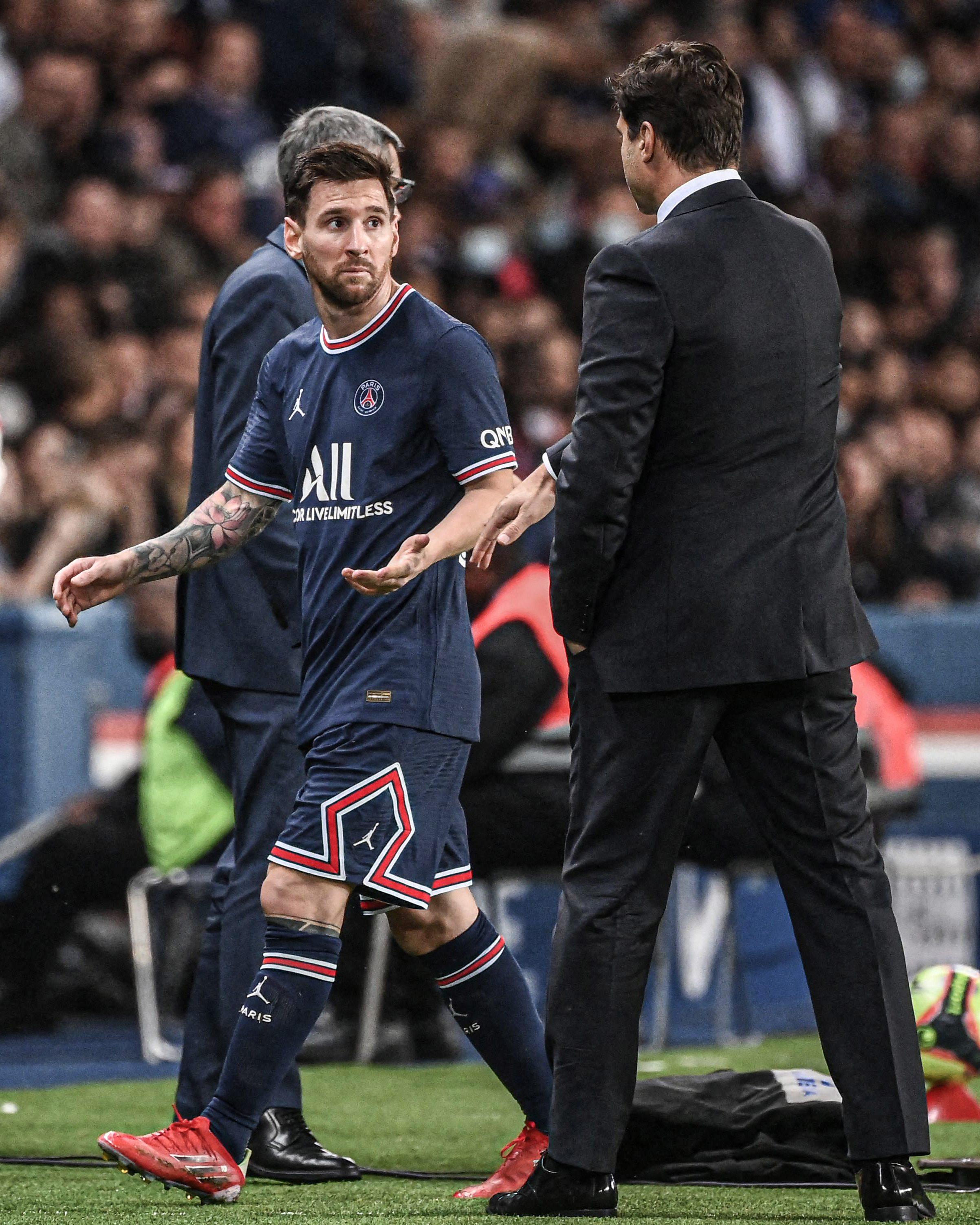 Leo Messi substitution PSG