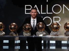 Leo Messi won the Ballon d'Or in 2019 for a record sixth time. (Image: Twitter/LEquipe)