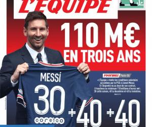 Messi salary L'Equipe