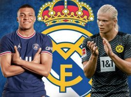 Mbappe and Haaland could lead Real Madrid's attack starting next season. (Image: Twitter/FootMercato)