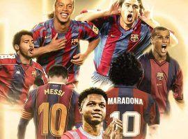 Ansu Fati is Barcelona's new number 10. (Image: socios.com)