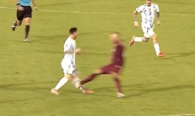 Messi brutal attack