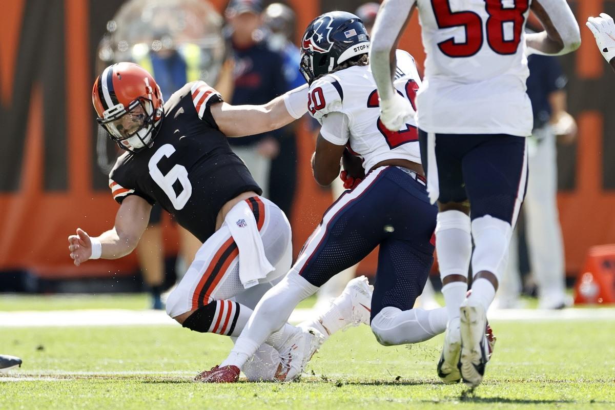 Baker Mayfield Cleveland Browns shoulder injury