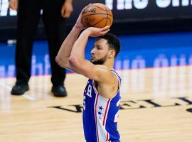 Ben Simmons from the Philadelphia 76ers attempts a free throw. (Image: USA Today Sports)