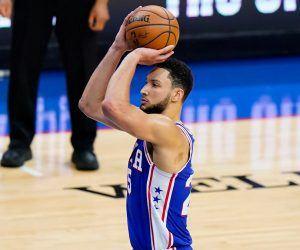 Ben Simmons Philadelphia 76ers Free throw shooting prop bet hit miss throws