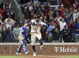 The Atlanta Braves head to Los Angeles with a 2-0 lead in the NLCS over the Los Angeles Dodgers. (Image: Robert Gauthier/Los Angeles Times)