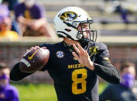 Missouri quarterback Connor Bazelak has enjoyed a surprisingly good start to the 2021 season, and could provide excellent DFS value this week against Tennessee. (Image: KC Kingdom)
