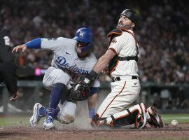 The San Francisco Giants host the Los Angeles Dodgers in Game 1 of the NLDS on Friday, as the teams with the two best records in baseball clash early in the playoffs. (Image: Tony Avelar/AP)