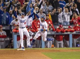 Chris Taylor (3) hit a game winning home run to win the NL Wild Card Game for the Los Angeles Dodgers. The Dodgers are the favorites to win the 2021 World Series. (Image: Gina Ferazzi/Los Angeles Times)