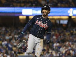 Eddie Rosario's Game 4 performance pushed him into the lead in the NLCS MVP odds race. (Image: Sean M. Haffey/Getty)