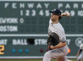 Gerrit Cole will take the start for the New York Yankees when they travel to Fenway Park to take on the Boston Red Sox in the AL Wild Card game. (Image: Elise Amendola/AP)