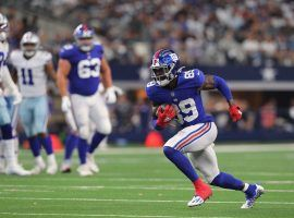 New York Giants rookie wide receiver Kadarius Toney had a breakout game with 10 receptions in Week 5 against the Dallas Cowboys. (Image: Getty)