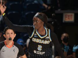 Kahleah Copper led the Chicago Sky to a Game 3 win over the Connecticut Sun in their WNBA semifinal series. (Image: Randy Belice/NBAE/Getty)