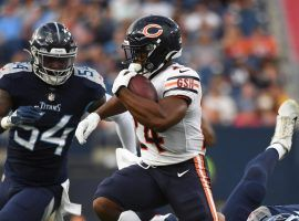 Chicago Bears running back Khalil Herbert should see big volume this week with the team's top-two running backs out. (Image: Christopher Hanewinckel-USA TODAY Sports)