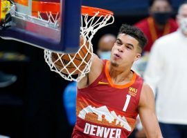 Michael Porter Jr, a forward from the Denver Nuggets, comes into the new season as the betting favorite to win the 2022 NBA Most Improved Player award. (Image: Porter Lambert/Getty)