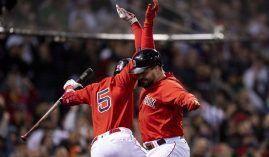 The Boston Red Sox have slugged their way to a 2-1 lead over the Houston Astros in the ALCS. (Image: Billie Weiss/Getty)