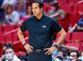 Miami Heat head coach Erik Spoelstra never won the NBA Coach of the Year, but he currently leads the pack in COY wagering. (Image: Getty)